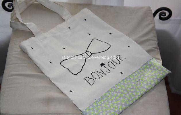 sac tissu customisé
