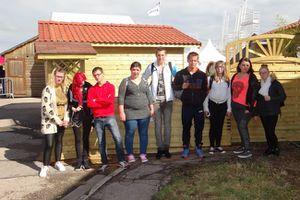 Les élèves CAP2 Peinture et APH en visite au Salon Habitat et Bois 2016