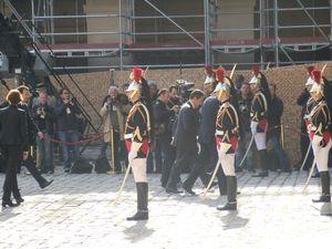 Cérémonie d'hommage national à quatre soldats morts en Afghanistan (14/06/2012)