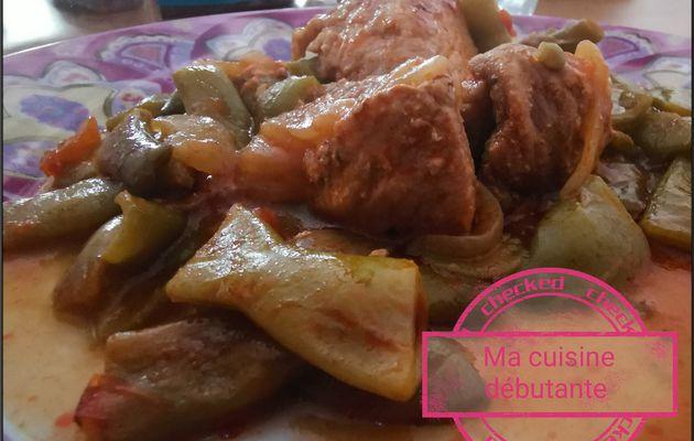 Sauté de porc au cumin et haricots plats au cookeo