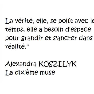 La dixième muse d'Alexandra KOSZELYK