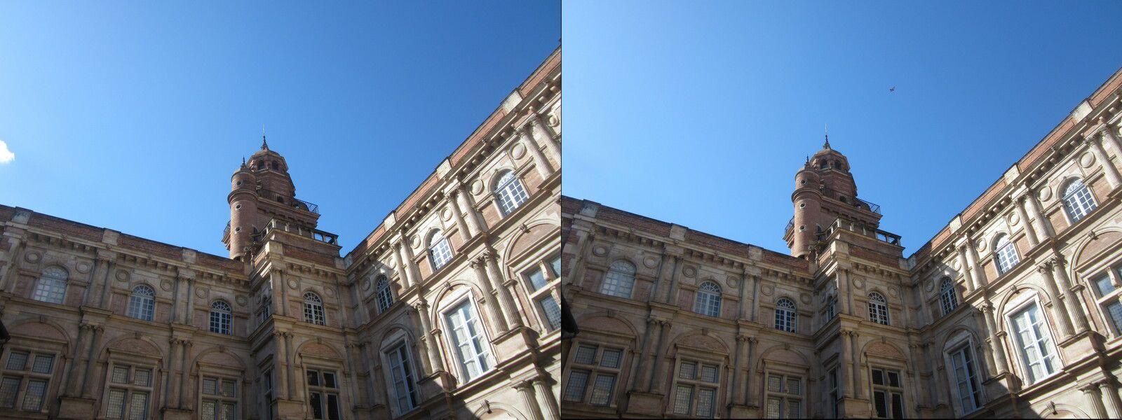 Photos de Toulouse en 3D vision croisée