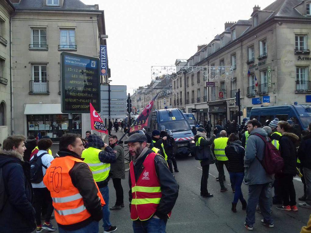 Une journée de grève et de manifestations à Compiègne ce vendredi 14 décembre