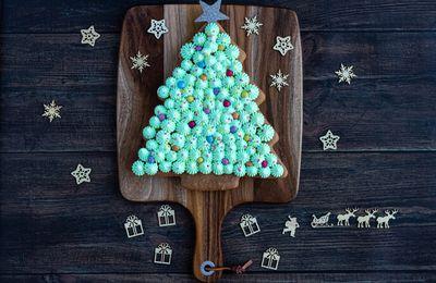 Gâteau sapin de Noël à la crème de marrons