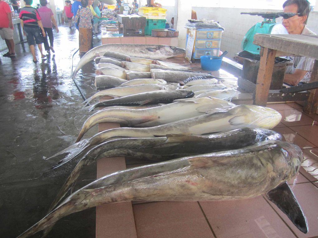 les marchés à kotakinabalu