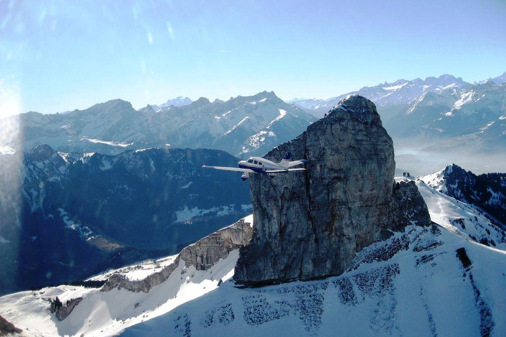 Un vol touristique en Valais Central