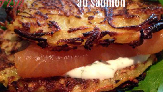 Hamburger de pommes de terre au saumon