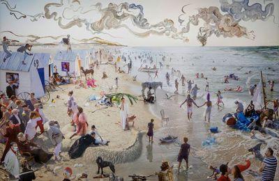 """La Flandre: La Plage inspire, Athos Burez réactualise l'oeuvre """"les Bains à Ostende"""""""