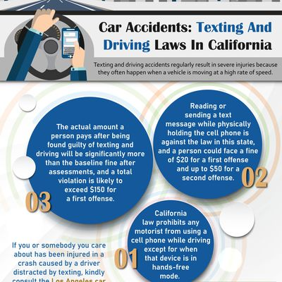 Car Accidents: Texting And Driving Laws In California