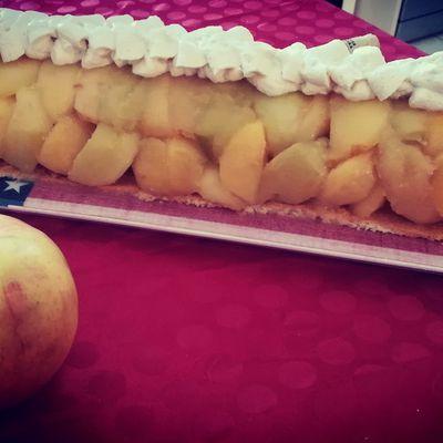 Bûche de Noël aux pommes