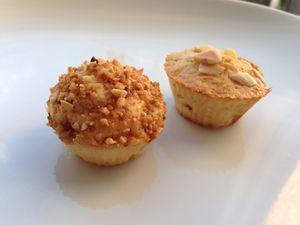 Muffins à la poire et pralin