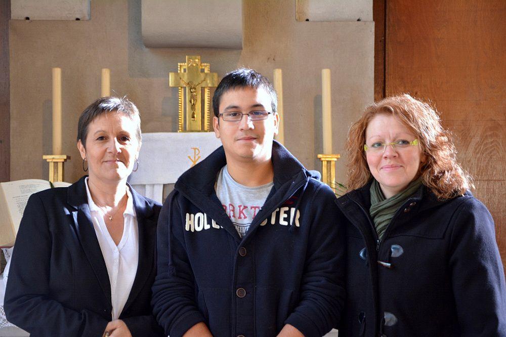 Entrée en catéchuménat de Sylvie, Eva et Cyril