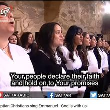 70 thousand Egyptian Christians sing Emmanuel - God is with us