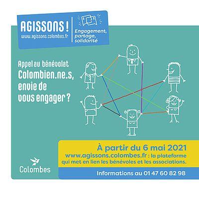 La nouvelle plateforme agissons.colombes.fr : Le bénévolat à portée de clic