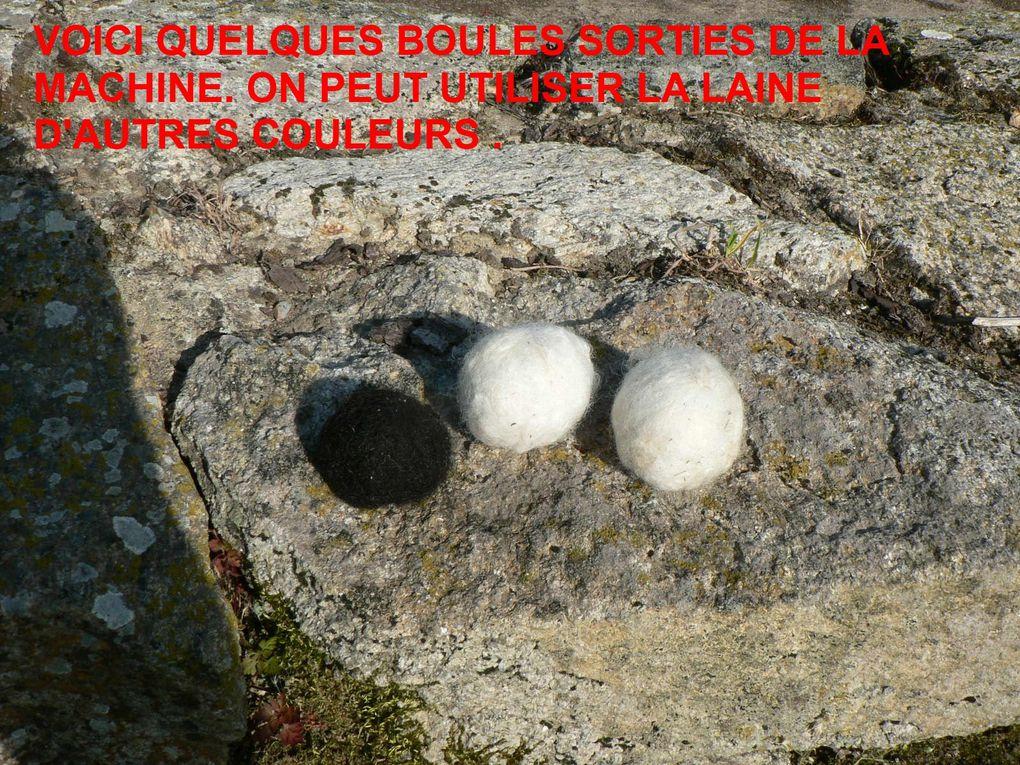 comment faire des boules de laine avec suggestion de présentation