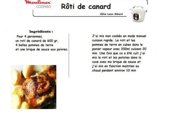 Roti de canard recettes cookeo