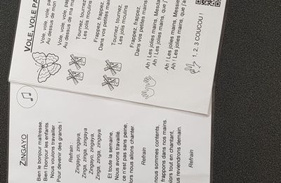 Chansons avec QRode pour la maternelle