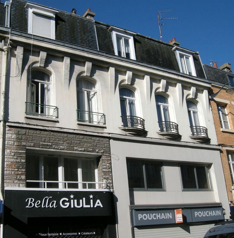 64 rue Saint-Aubert (1924) - 4 boulevard Vauban (avec Jules Déprez, 1923) - place du Théâtre (avec Jules Déprez, 1923) - 12 rue du Saumon (1924) - 34 boulevard Faidherbe (1924) - boulevard Faidherbe et rue Pasteur (1924) - rue du Crinchon (1924) - 28 place du Théâtre, La Maison bleue (1928) - Place Foch et rue Chanzy (1925) - 31 rue Ernestale (1926) - 33 et 35 rue Saint-Aubert (1926) - 1 rue du Noble (1927) - 38 rue Delansorne (1928) - 39 rue aux Ours (1928) - 46 rue Delansorne (1928) - 8 rue Saint-Aubert (1929) - 14 rue Constant-Dutilleux, La Villa (1930) - 2 place de la Vacquerie (1933) - 13 rue Aristide-Briand (1933) - 74 rue Saint-Aubert (1936)