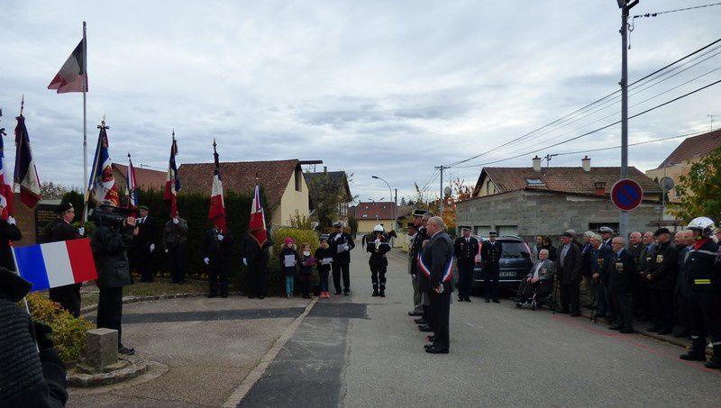 Commémoration 100ème anniversaire de l'Armistice du 11 novembre 1918 à Wolfgantzen