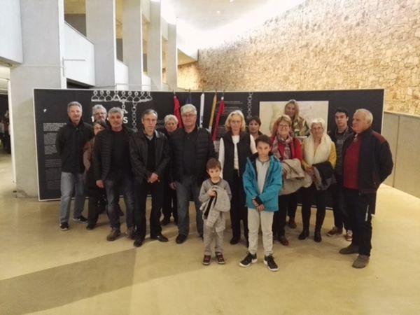 Moriez  ; Visite à Quinson  pour  l'inauguration  de l'exposition des trésors alpins  le 12 avril 2019