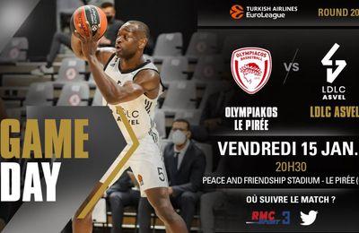 Olympiakos / Lyon-Villeurbanne (Euroleague) en direct vendredi sur RMC Sport !