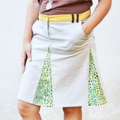 Refashion shorts into a DIY skirt with godets - Cucicucicoo
