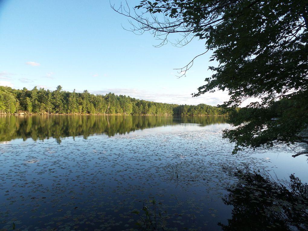 Vue du camping avec un lever de soleil sublime. Comme quoi, ça vaut la peine des fois de se lever à 6h!