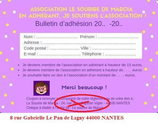 """L'association """"Le Sourire de Marcia"""""""