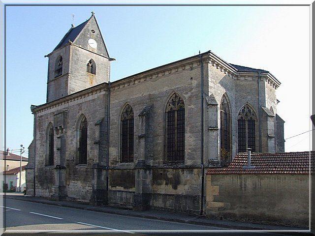 Diaporama église fortifiée de Jouy sous les Côtes