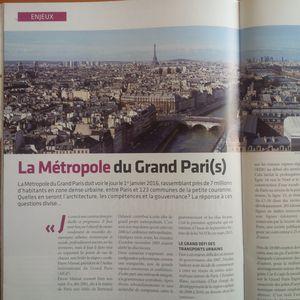 > La Métropole du Grand Paris dans Le magazine de l'ingénierie territoriale