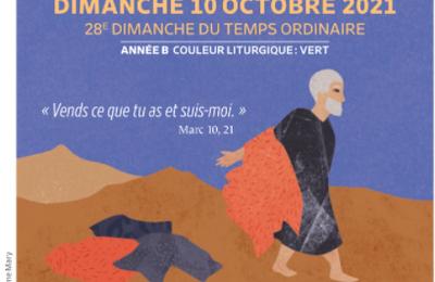 Paroisses de Genlis et Saint Just de Bretenières - Semaine du 9 au 19 octobre 2021 - 28ème dimanche ordinaire B