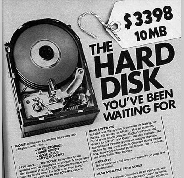 Promo sur les disques durs de 10Mo !