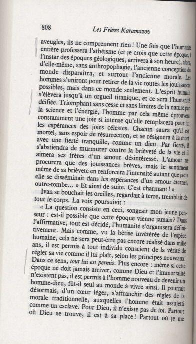 RÉFLEXION 94 SUITE -L'ATHÉISME AVEC DOSTOÏEVSKI