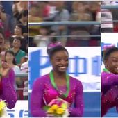 Simone Biles has a sting in her tail after bee disrupts gymnastics
