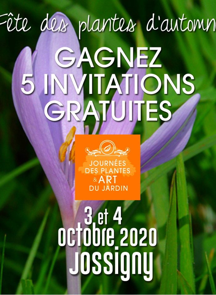 Gagnez vos Entrées pour les Journées des Plantes en Seine et Marne, à Jossigny, les 3 et 4 octobre