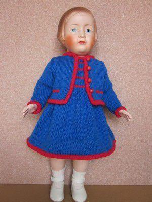 Ensemble tricoté pour Josette (46cm)