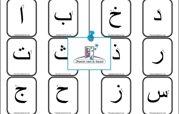 Cartes Alphabet Arabe
