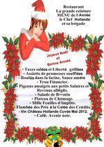 Nos menus de Noël & du Nouvel An, version 2012...