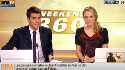 2013 01 11 - CLAIRE ARNOUX - BFM TV - WEEK-END 360 @21H30