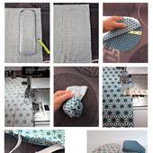 Coudre un couvercle réversible en tissu, sur mesure ! - Claire L. Création