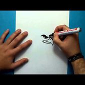 Como dibujar un aguila paso a paso 4   How to draw an eagle 4