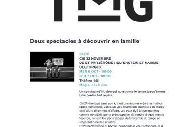 TMG - Deux spectacles à voir en famille et 3ème édition d'Ouverture exceptionnelle