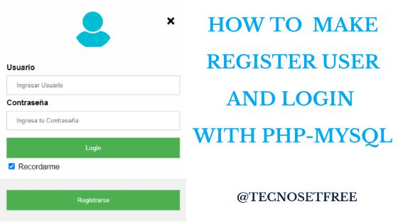 how to make login form in php and mysql - Part I