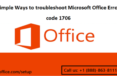 Simple Ways to troubleshoot Microsoft Office Error code 1706
