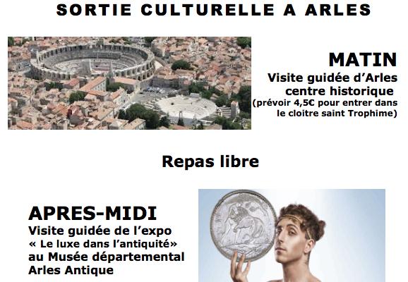 Sortie culturelle à Arles avec la MMA Estaque Plage