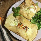 Recette : crêpes salées aux légumes et crème de roquefort - Les Gralettes