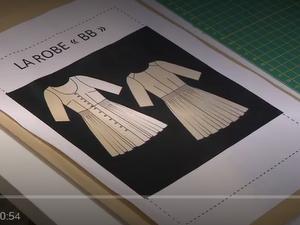 la robe patron cousu main épisode 3, d'après le Burda style n°7084.