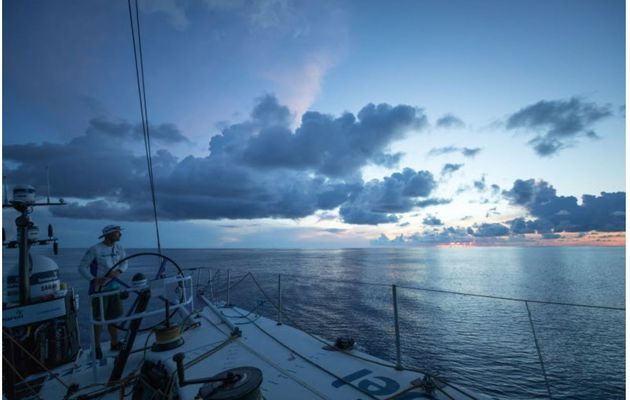 Flappy sails and glassy seas on Volvo Ocean Race