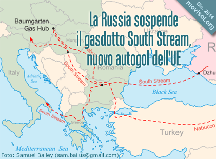 La Russia sospende il gasdotto South Stream, nuovo autogol dell'UE