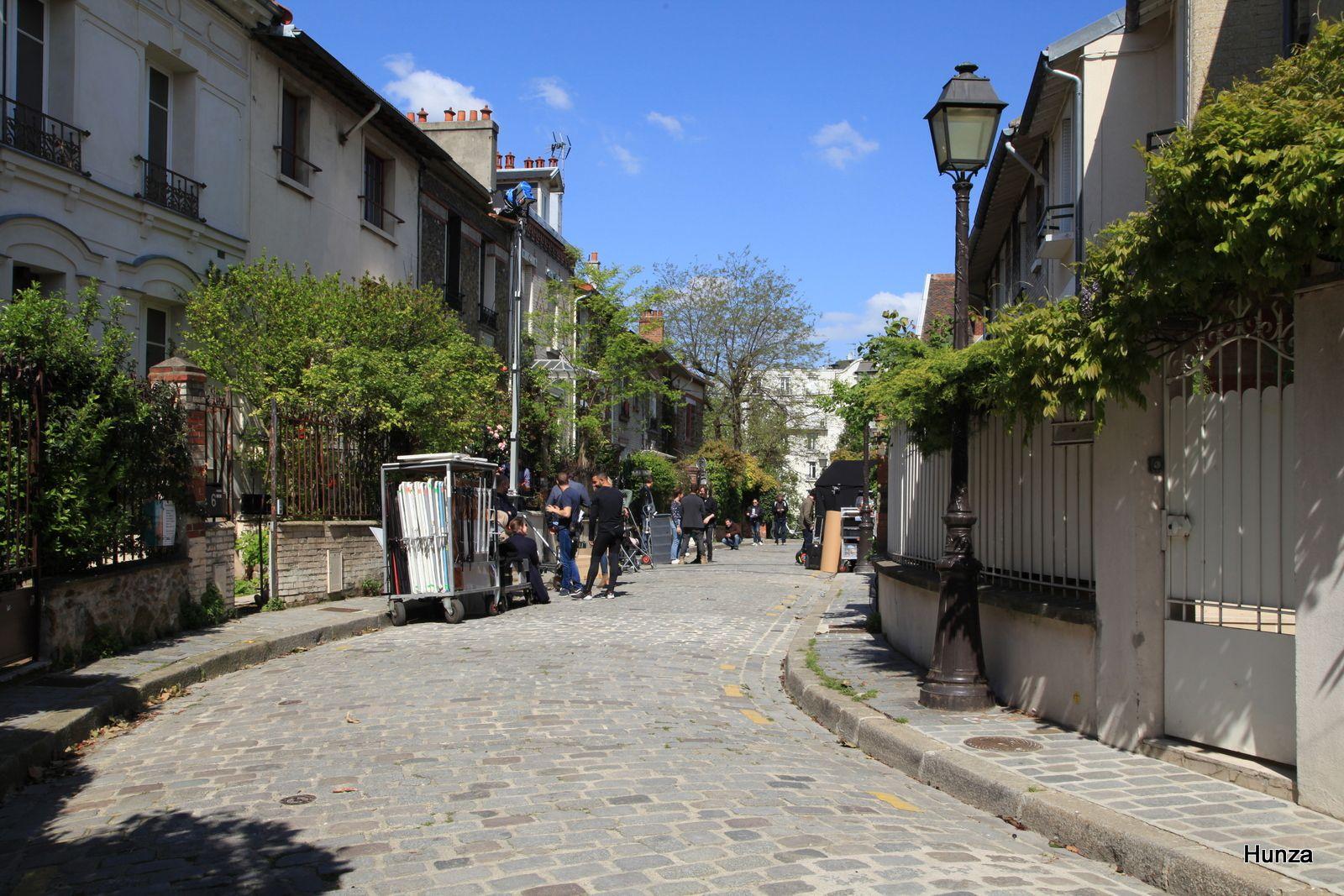 Rue Irénée Blanc : tournage d'un film en cours